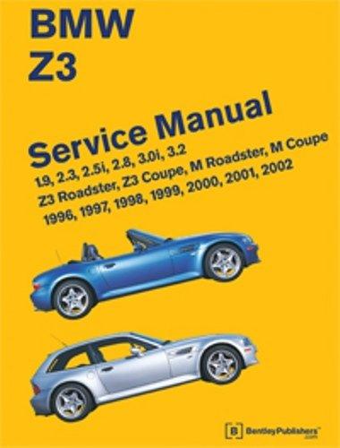 BMW Z3 Service Manual: 1996-2002: 1.9, 2.3, 2.5i, 2.8, 3.0i, 3.2 - Z3 Roadster, Z3 Coupe, M Roadster, M Coupe