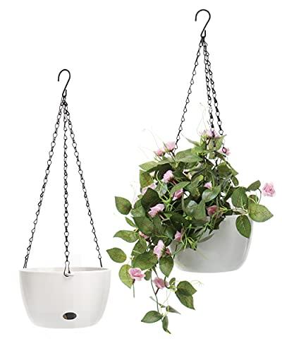 SAROSORA 20,3 cm Cesto autoirrigante per piante da interni ed esterni, piante aromatiche (2,2 cm senza terreno di cocco)