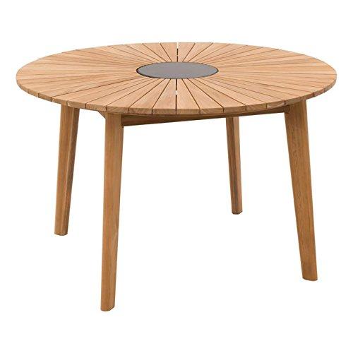 OUTLIV. Wellington Gartentisch 120cm Ø mit Gestell und Tischplatte aus FSC zertifiziertem Teakholz