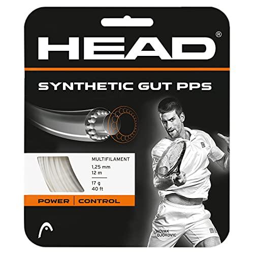 Head Synthetic Gut PPS Cordajes de Raquetas de Tenis, Unisex Adulto, Blanco, 16