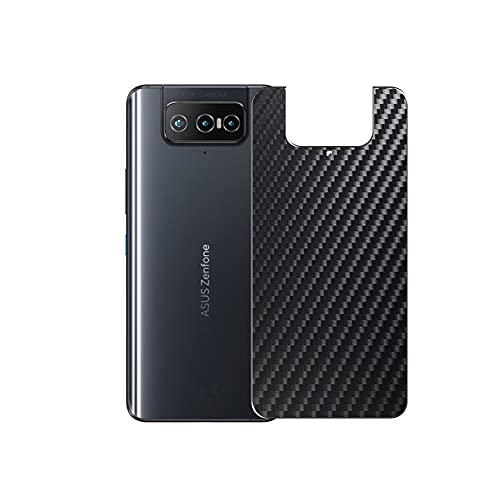 VacFun 2 Piezas Protector de pantalla Posterior, compatible con ASUS Zenfone 8 Flip, Negro Película de Trasera Espalda Piel (Not Funda Carcasa)