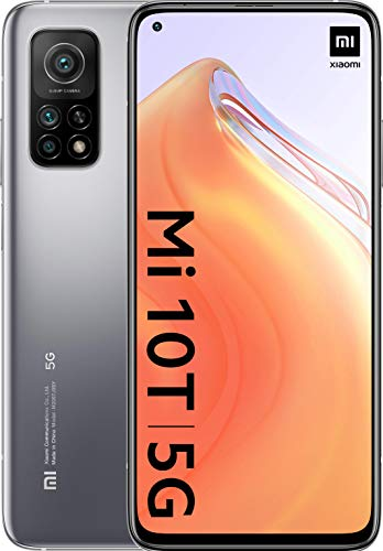"Mi 10T - Smartphone 6+128GB, display 6,67"" Full HD+, Snapdragon 865, 64MP AI Triplo-Camera, batteria 5000mAh, Lunar Silver (Versione ufficiale..."