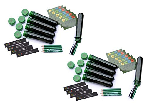 geo-versand Neu! Schluss mit Logbuch Brei - 10 x Petling - Logbuch wasserfest - Stift komplett Set Paket Geocaching Cache Versteck grün 13 cm