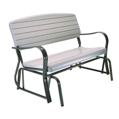 Lifetime 2871 Outdoor Glider Bench, 4 Foot, Putty