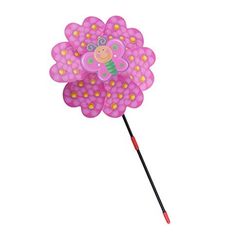 Sharplace Moulin à Vent Pinwheel à Assembler Moulinet Jouet Enfant Décoration Balcon Fête - Rose