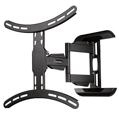 Hama TV-Wandhalterung (neigbar, schwenkbar, vollbeweglich für Fernseher von 32 bis 65 Zoll (81 cm bis 165 cm Bildschirmdiagonale), inkl. Fischer Dübel, VESA bis 400x400, max. 35 kg) schwarz