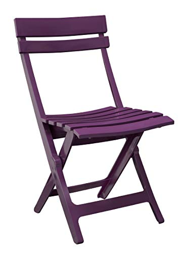 Ondis24 Gartenstuhl Klappstuhl Miami, 42 x 50 x 80 (H) cm, pflegeleicht, UV- und witterungsbeständig (Lila)