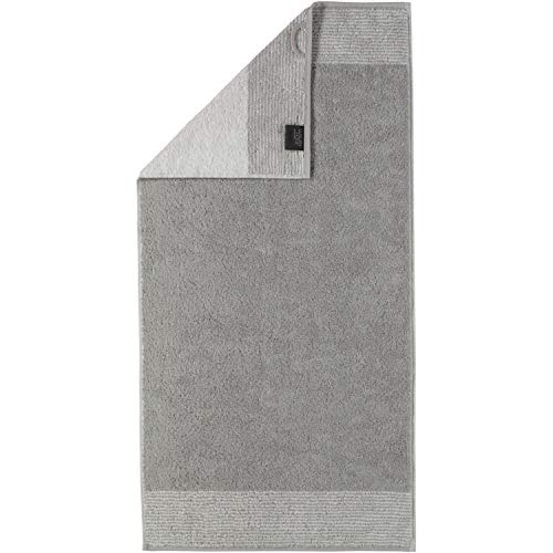 Cawö Home Handtücher Luxury Home Two-Tone 590 Platin - 76 Handtuch 50x100 cm