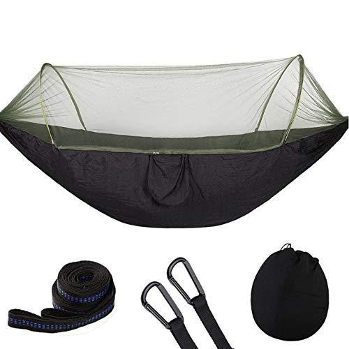 ZXL Hangmat voor in de tuin, parachutestof, muggennet, hangmat, jacht, slaapschommel 1-2 personen, groen blue