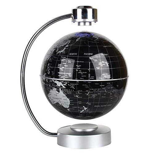 SDlight Magnetschwebeglobus, Rotating Schwebender Globus, Mit LED-Nachtlichter, Geographieunterricht Demo, Kind-Geschenk, Büro Study Tischdekoration,Schwarz
