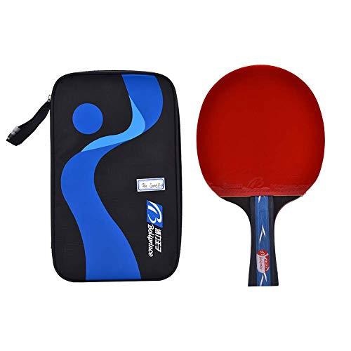 Palas Ping Pong 1 Pieza De Raqueta De Tenis De Mesa De Ping Pong Profesional, Bolsa Portátil, Accesorio Deportivo para Entrenamiento Avanzado (Bate con Agarre De Mano)