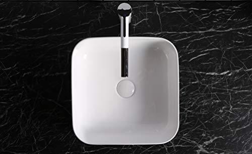 Design Aufsatzwaschbecken Handwaschbecken Waschbecken WC 390 * 390 * 140 mm in weiß, mit Lotus Effekt von Art-of-Baan 0083