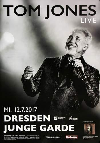 Tom Jones - Long Lost Suitcase, Dresden 2017 » Konzertplakat/Premium Poster   Live Konzert Veranstaltung   DIN A1 «
