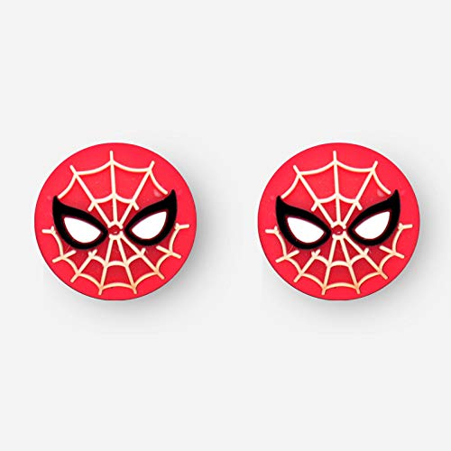 Silicone Analog Controller Grips Cap Thumb Stick Joystick Cover for PS4 PS3 Xbox 360 Xbox One Nitntend Switch Pro Wii u Controller Game Accessories (Spider-Man)