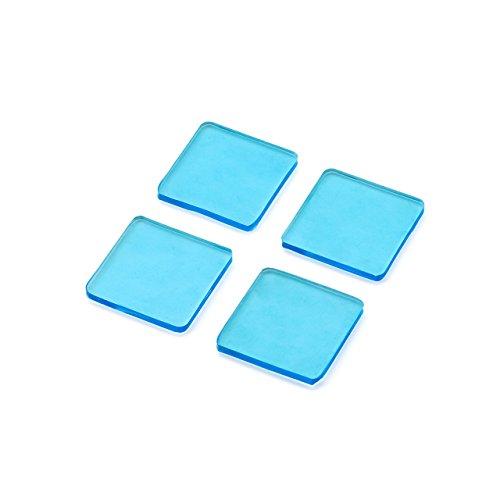 サンワダイレクト 耐震ジェル 耐震マット 耐震度7 総耐荷重40kg 薄型3mm テレビ パソコン 転倒防止 四角 ブルー 200-QL003