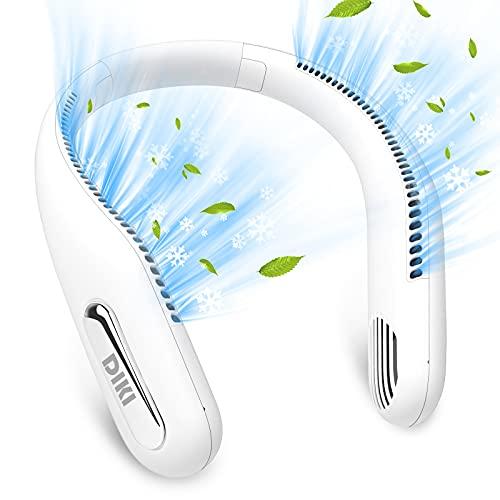 Mini Ventilator, DIKI USB Ventilator mit Akku Super Leise 360 ° Verstellbarer Tragbarer Nackenlüfter, 3 Geschwindigkeiten Starker Wind, Keine Ventilatorrad Neck Fan für Sportbüro Home Outdoor Reisen