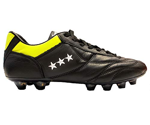 Pantofola D'oro Epoca Canguro PC2721-02CN Chaussures de football avec languette courte - Noir - Noir/Jaune, 46 EU EU