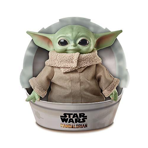 Star Wars Baby Yoda de la serie The Mandalorian, peluche de 28 cm (Mattel GWD85)