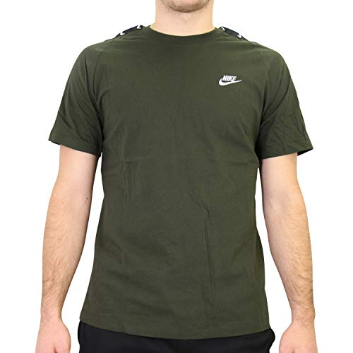 Nike Herren Hbr Swoosh 2 T-Shirt, Sequoia/White, S