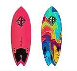 Scott Burke 5'2'', TAVOLA Surf SOFTBOARD Unisex-Adulto, Red