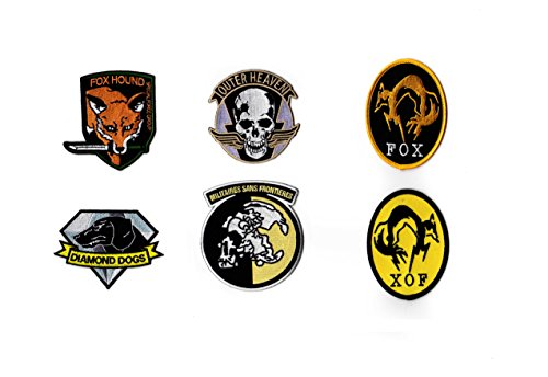 Metal Gear Solid Iron on Patch Cosplay Set Foxhound, Fox, XOF, Diamond Dogs, Outer Heaven, MSF