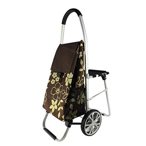 Carro plegable con asiento portátil de carros de mano, E, 60 * 100cm plm46
