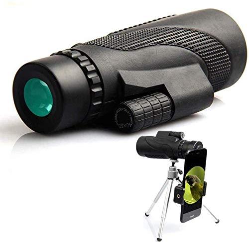 SYWJ HD Telescopio Digital Telescopio 40x60 Lente óptica de Alta definición Telescopio monocular + Trípode + Clip para teléfono Universal Deportes Acampar al Aire Libre Trave Telescopios de Alta
