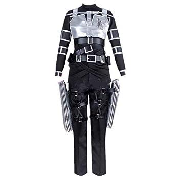 Attack On Titan Shingeki No Kyojin Final Season Mikasa Ackerman Cosplay Costume Custom Made for Halloween Christmas  Female L  Black