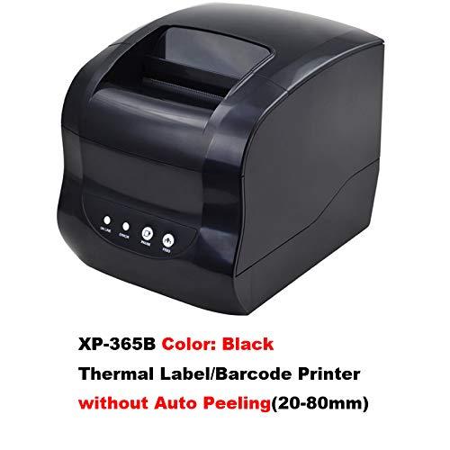 QWERTOUY Barcode label Printer Labels Printer Barcode QR Code Sticker Machine 20 mm - 80 mm met automatische verwijdering, A