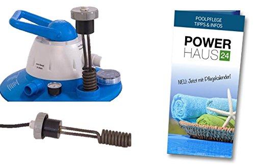 Heizmodul für Sandfilteranlagen Flow 5 (SF1025), Flow 7 (SF1050) und Flow 10 (SF1075) mit POWERHAUS24 Pflegefibel!
