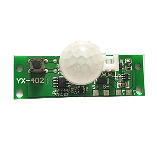 3.7V Infrarrojo Lámpara solar Panel Placa de circuito Lámpara solar Sensor de control de placa Módulo de controlador de luz nocturna-Verde