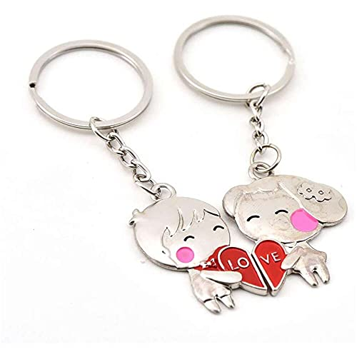 nanxing Keychain Accessories,Pair Couples Couple Key Ring Metal Pendant Car Key Chain Activity GIF Cute Keychains