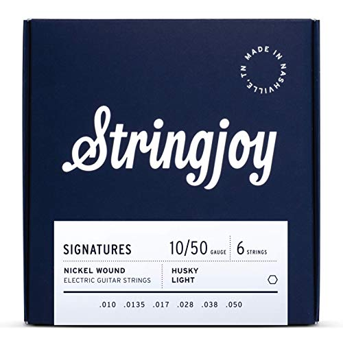 Stringjoy HSK10 Signature Nickel Electric Guitar Strings, (Husky Light Gauge - 10-50)