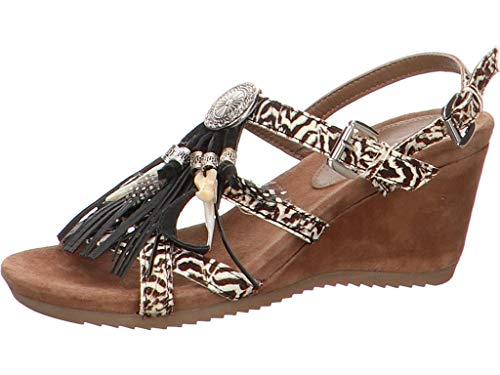Lazamani dames sandalen 7565 75.651 121 zwart 688107