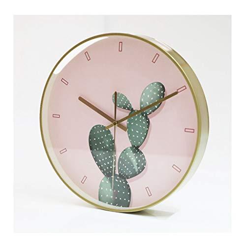 MJJ @Reloj de Pared Reloj de Pared Simple, silenciosa Cuarzo Decorativo for no marcar Reloj de Pared Redondo, Alimentado por batería, con Estilo de la Sala de Estar Dormitorio Cocina Reloj