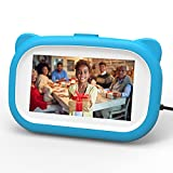 VUCATIMES Kids Digital Photo Frame, Birthday Gifts for 6-14 Year Old Boys, Kids Electronic Toys 5.5 Inch 1280 x 720 HD Display, Photo Slideshow with Music, Video Play, Calendar and Alarm Clock (Blue)