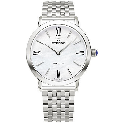 Eterna Eternity Lady Quartz Uhr, ETA 956.412, 32mm, Perlmutt, 2720.41.62.1738