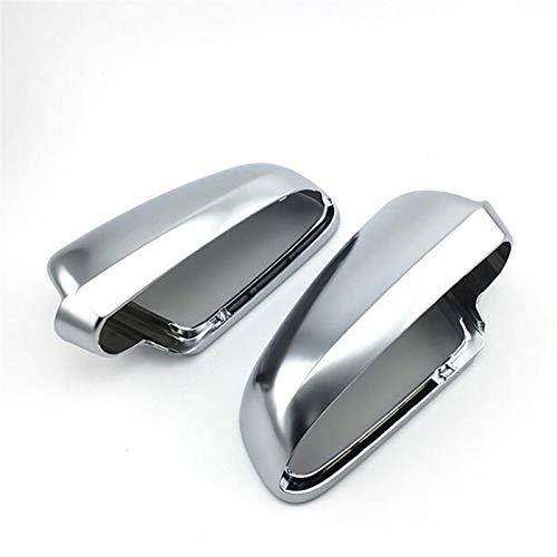 KCSAC AJUSTE PARA AUDI A4 B6 B7 A6 C6 Coche Retrovisor Retrovisor Cubierta lateral ala Espejo Proteger Frame Funds Trim Plate Silver Chrome Shell Cubierta