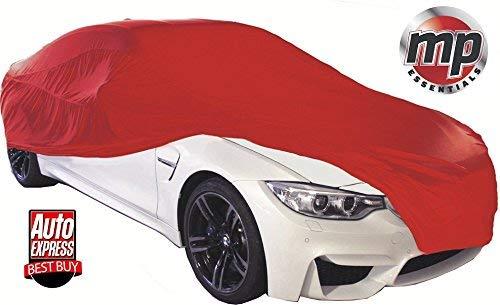 MP Essentials Soft atmungsaktiv Stoff Indoor, Garage & Showroom Full Auto Cover–Rot