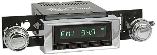 Retro Manufacturing HB-115-121-03-73 Hermosa Direct-Fit Radio for Classic Vehicle (Black Face and Buttons and Chrome Bezel)