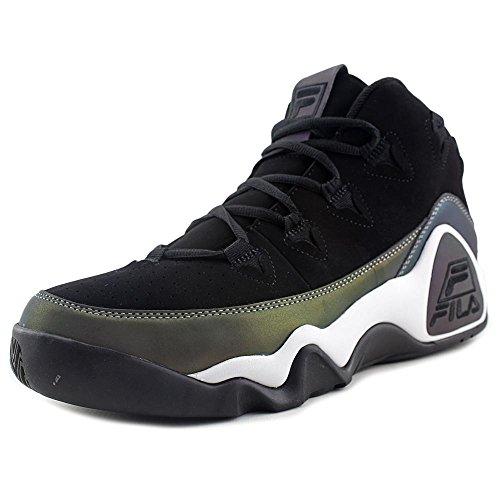 Fila Mens The 95 Basketball Sneakers, Black/Black/White, 8.5