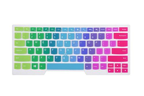 Leze - Ultra Thin Keyboard Skin Cover for Thinkpad E450C E460 E465 L450 T450S T14 T14s E14, Thinkpad P43s P14s, Thinkpad X1 Yoga 4th Gen, ThinkPad P1 Gen 2/3, X1 Extreme Gen 2/3 Laptop - Rainbow