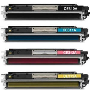 Organizza Ufficio Kit 4 Toner Compatibili per LBP7010C, Durata Nero: 1.200 Pagine al 5% di Copertura, Durata Colori: 1.000 Pagine al 5% di Copertura, O-CE310A, O-CE311A, O-CE312A, O-CE313A.