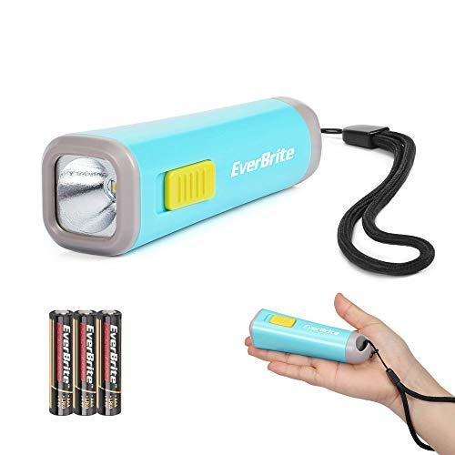 EverBrite Mini Linterna LED Linterna Portátil Antorcha Linterna, Iluminación Nocturna, Ligera y Duradera, 3 Baterías AAA Incluidas, Buen Regalo para Chicos - Azul