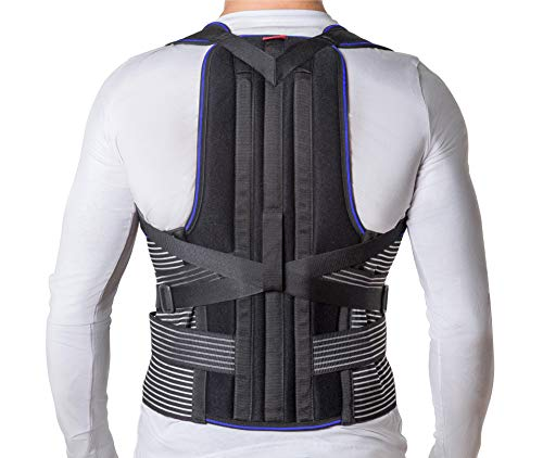 JNTAR Back Brace Posture Corrector for Women & Men, Provides Lumbar & Shoulders Support, Corset Corrects Slouching & Bad Posture, Kyphosis & Scoliosis, Rigid Fixation (Large)
