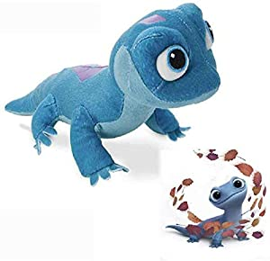 TheCute Bruni Salamandra suave peluche de juguete es un muñeco en torno al personaje congelado 2 Película, El general uso del modelado tridimensional, y la combinación de patrones en la parte posterior de la muñeca hace que el gran realismo, El noved...