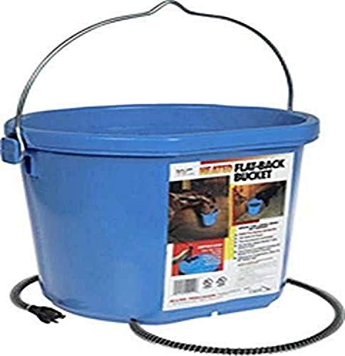 API Heated Bucket Heated Flat Back Bucket, 20 Quart (Item No. 20FB)