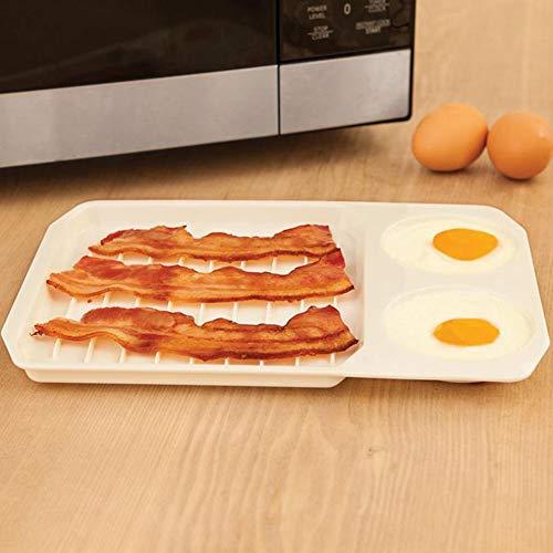 SHUGJAN Antihaft-Backblech Mikrowellenherd Bakeware Startseite DIY PP Speck Eier Brot Kartoffelgerichte Küche-Werkzeug-Cooker-Gebäck DIY Zubehör Hardware Reparaturwerkzeuge