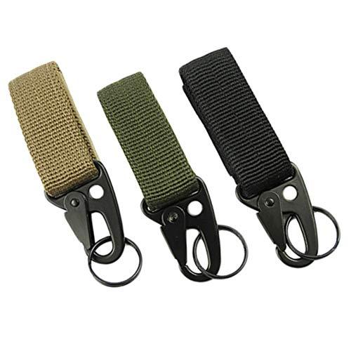 Cmqrtsgssd Durevole 3 Pezzi Tactical Gear Clip, Portachiavi in Nylon Holder O Tactical Belt Keepers Portachiavi Tattico Multi Funzionale Multiuso