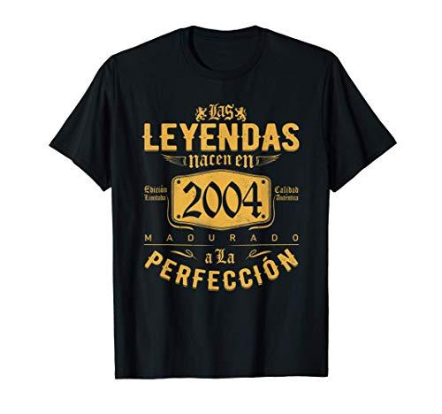 Las Leyendas nacen en 2004 - Regalo de 17 años niño niña Camiseta